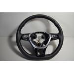 5TA419091AQ MultifunktionsLenkrad Beheizt Leder VW T-Roc Touran 2 5T ORIG 22KM!